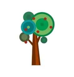 Cartoon apple tree vector image vector image