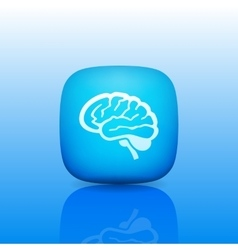 Detailed Human Brain Line Icon vector image
