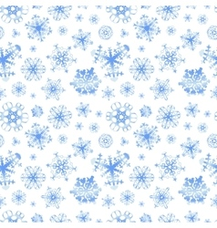 Different snowflakes on white winter background vector image vector image