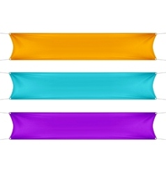 Orange turquoise and purple blank empty banners vector