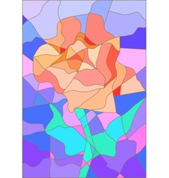 Stained glass rose flower for your design vector image vector image