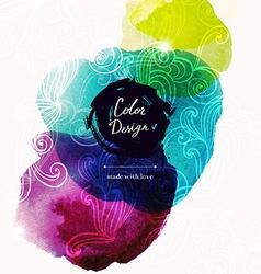 Watercolor texture design vector image
