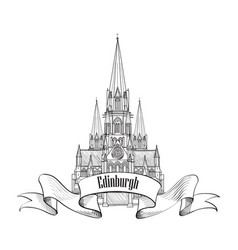 edinburgh sign scotland united kingdom travel vector image vector image