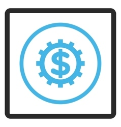 Financial Industry Framed Icon vector image vector image