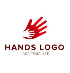 hand to hand logo abstract logo design vector image vector image