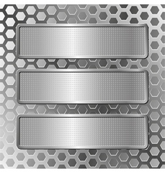 hree plaques vector image vector image