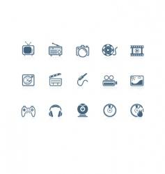 media icons piccolo series vector image vector image