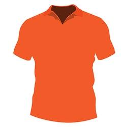 Orange t-shirt vector image