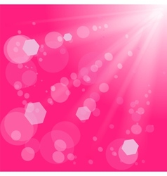Pink Burst vector image vector image