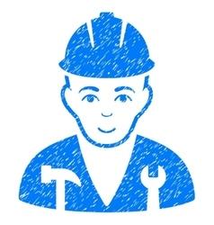 Serviceman Grainy Texture Icon vector image