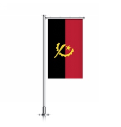 Angola flag hanging on a pole vector image vector image