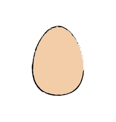 Isolated chicken egg vector image