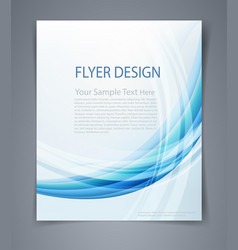 layout business flyer magazine cover or design vector image