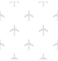 plane pattern flat vector image