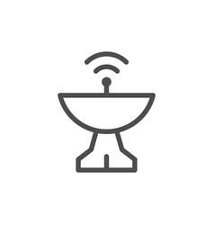 radar dish line icon vector image