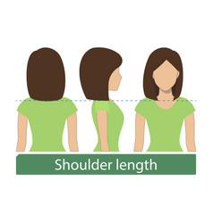 shoulder length hair vector image vector image