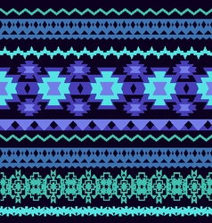 beautifu Striped Tribal ethnic seamless pattern vector image vector image