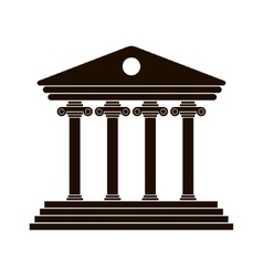 black Greek colonnade vector image