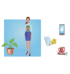 businesswoman office worker employee manager vector image vector image