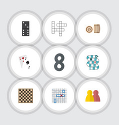 flat icon play set of multiplayer people guess vector image vector image