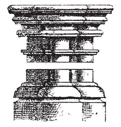 gothic architecture column shows how the capital vector image vector image