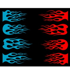 Set of tribal flames for tattoo and mascot vector image vector image