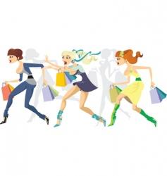 shopping maraton vector image vector image