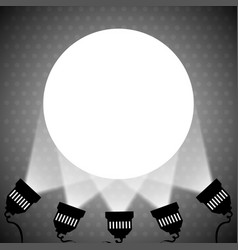 spotlight projecting to blank wall vector image