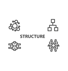 Structure icon from Business Bicolor Set vector image vector image