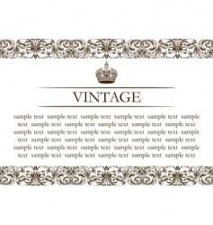 vintage frame decor line vector image vector image