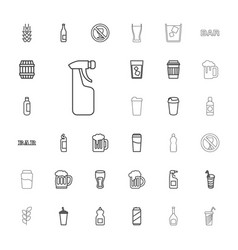33 beer icons vector