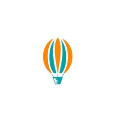 air balloon logo template vector image