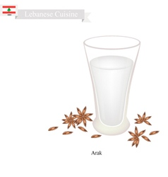 Arak or lebanese clear brandy vector