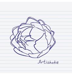 Artichoke doodle vector