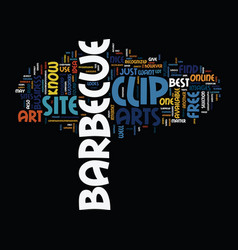 barbeque equipment text background word cloud vector image