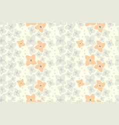 botanical motifs seamless texture little vector image