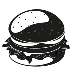 Burger silhouette vector