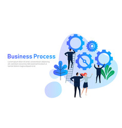 business process flat design concept for team vector image