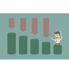 BusinessmanMoneyGraph2 vector image