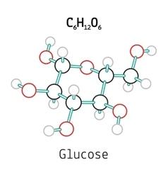 C6H12O6 Glucose molecule vector