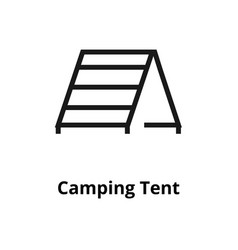 camping tent line icon vector image