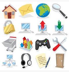 Cartoon internet icons vector