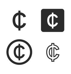 cedi currency symbol set vector image