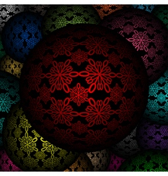 Decorative balls as background vector image