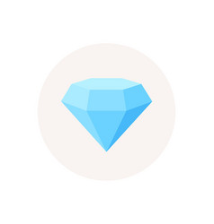 diamond crystal icon jewelry or brilliant sign vector image