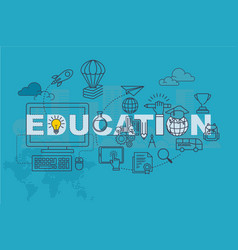 Education banner background design concept vector