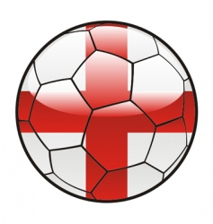 Flag of England on soccer ball vector