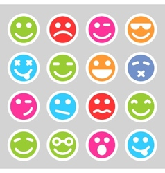 Flat smiley icons vector image