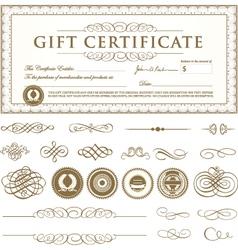 Formal Certificate Template vector image
