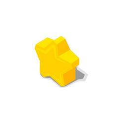 golden star favorite symbol vector image